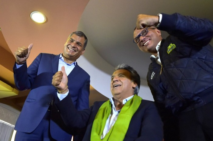 ECUADOR-RUNOFF-ELECTION-CORREA-MORENO-GLAS